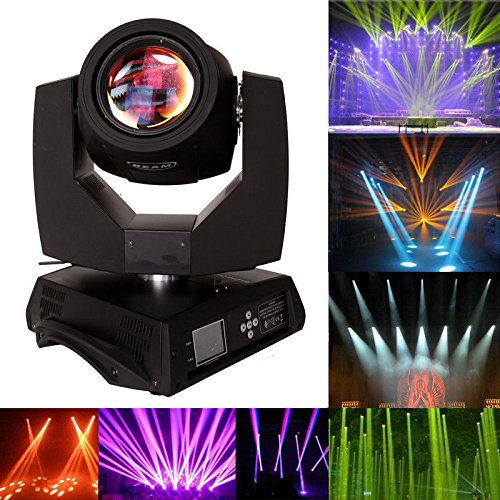 Ridgeyard 7R 230W Moving Head Stage Light 16 Prism Beam Zoom Touch Screen Gobo Light DMX DJ Disco Club Party Wedding Spot Light Stage Lighting