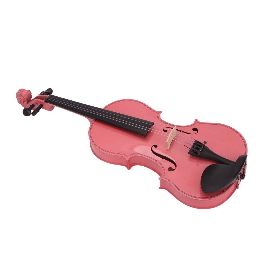 DESERT FOX 4/4 Full Size Acoustic Violin,Made from Basswood with Hard Case, Bow and Rosin (Pink) by DESERT FOX (Image #3)