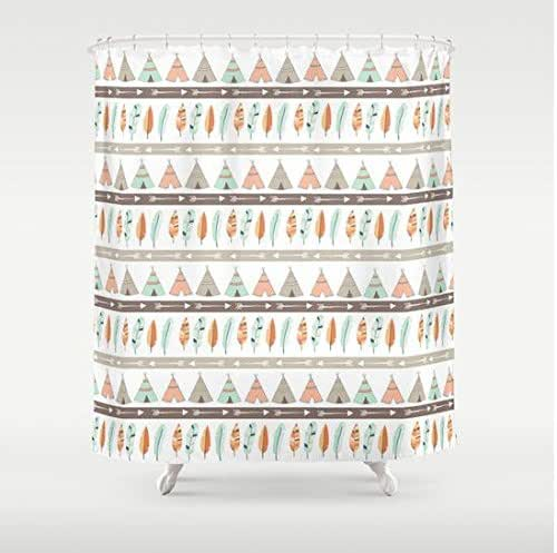 Amazon.com: Teepee Tribal Pattern Shower Curtain: Handmade