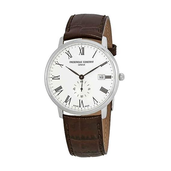 FREDERIQUE CONSTANT SLIMLINE RELOJ DE HOMBRE CUARZO 37MM FC-245WR5S6DBR: Amazon.es: Relojes