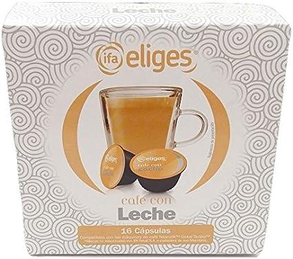 Ifa Eliges Café con leche - 16 cápsulas compatibles Dolce Gusto ...