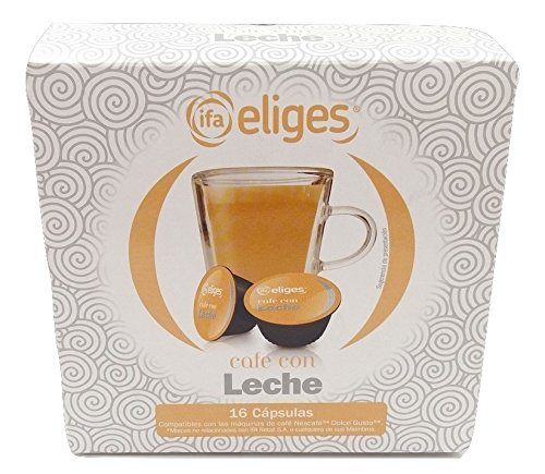 Ifa Eliges Café con leche - 16 cápsulas compatibles Dolce Gusto: Amazon.es: Alimentación y bebidas