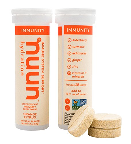 Nuun Immunity: Zinc, Turmeric, Elderberry, Ginger, Echinacea, and Electrolytes for an Anti-Inflammatory and Antioxidant Boost in Immune Support and Hydration, Orange Citrus 8-Pack by Nuun (Image #4)
