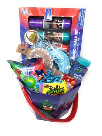 Easter baskets buy easter baskets products online in uae dubai happy easter basket kids toddlers gift children party action figure pack pre made eggs goodies candy baskets toys doll pj mask negle Image collections