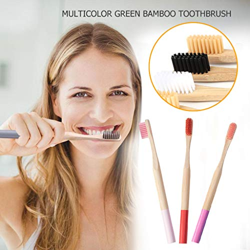 Clearance Sale!UMFun 3/4 Eco-Friendly Bamboo Soft Fibre Toothbrush Gradable Teeth Brush Care (A)