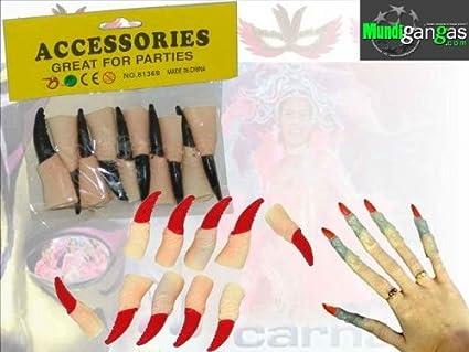Set uñas de latex postizas Bruja/Vampiro: Amazon.es: Hogar