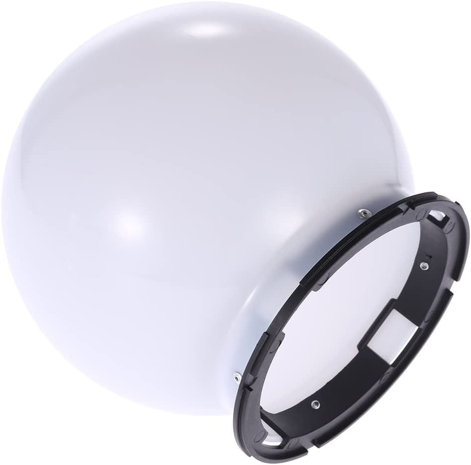Andoer SGA-DB150 Universal Flash Bounce Diffuser Soft Ball Dome /& Flash Adapter Mount for Nikon Canon Yongnuo Godox Sigma Andoer Neewer Vivitar Speedlight