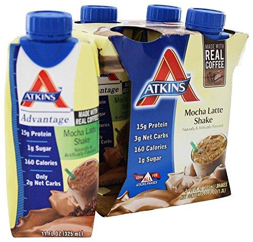 Atk Rtd Shake Mocha Latte Size 44z Atkins Ready To Drink Sha