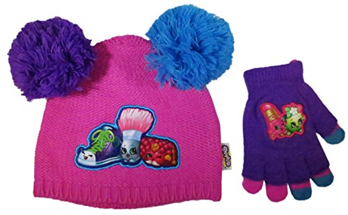 Shopkins Girls Beanie & Gloves
