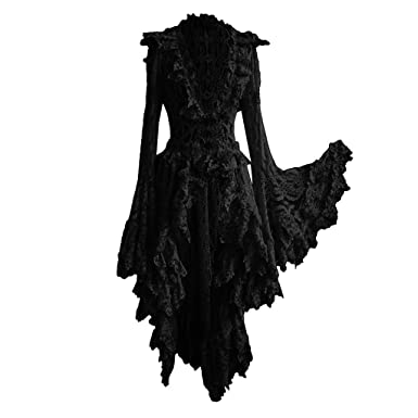 Vestidos Invierno Mujer Largos Vendimia Corte Gótica Cuello ...