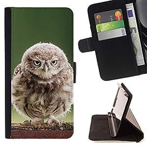 Momo Phone Case / Flip Funda de Cuero Case Cover - Fluffy búho del bebé;;;;;;;; - Samsung Galaxy A5 ( A5000 ) 2014 Version