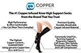 Copper Compression Knee High Recovery Support Socks Top Copper Infused Best Sock