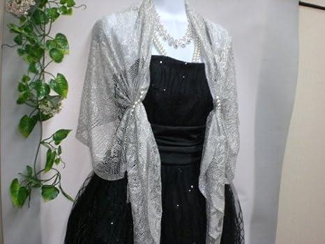 ホワイトローズブライダル結婚式パール付きレースストールパーティー用グレー、ピンク、黒