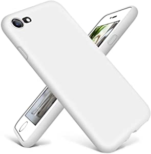 DTTO Compatible with iPhone SE Case 2020,iPhone 7 8 Silicone Phone Case, [Romance Series] Shockproof Anti-Drop Phone Case with Honeycomb Grid Cushion for iPhone 7/8/SE 2020, 4.7 inch (White)