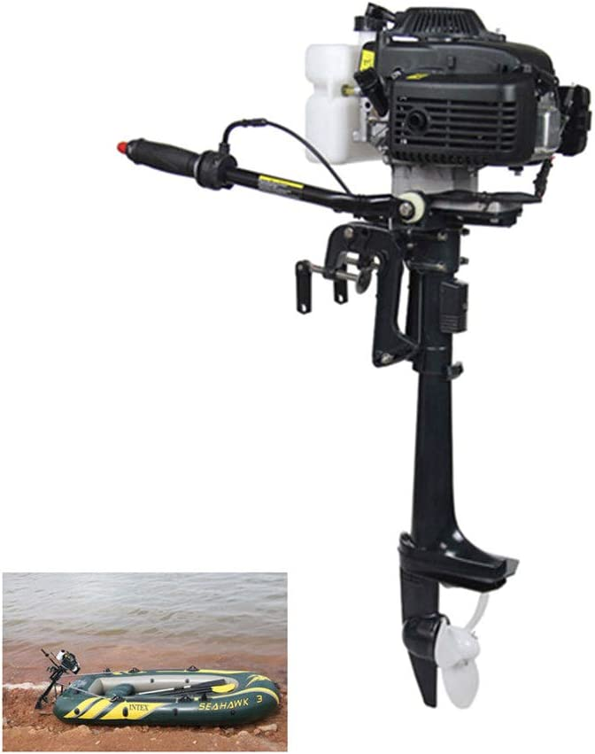 NICE CHOOSE Outboard Motor, 4 Stroke 4HP 52CC Heavy Duty Outboard Motor Inflatable Fishing Boat Engine with Air/Water Cooling System - US Shipping