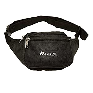Everest Signature Waist Pack - Standard, Black, One Size