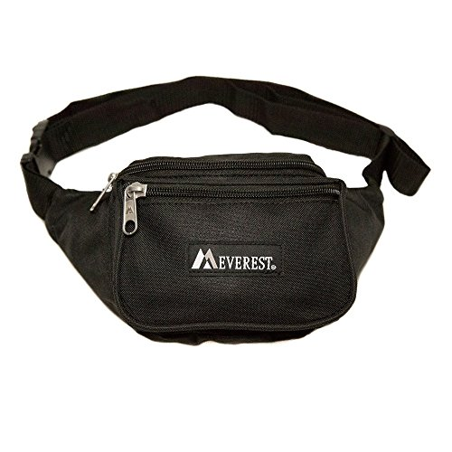 Everest Signature Waist Pack – Standard, Black, One Size