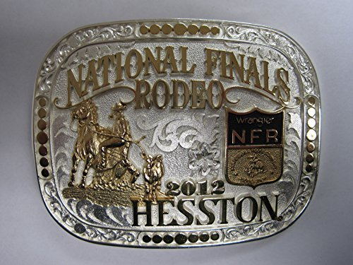Montana Silver Plated Plates (Hesston Gold and Silver Plated 2012 National Finals Rodeo NFR Adult Belt Buckle New in original display box)