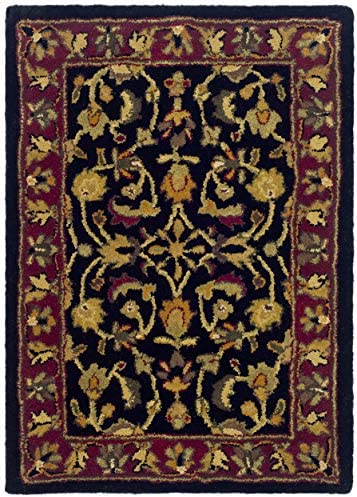 Safavieh Heritage Collection HG953A Handcrafted Traditional Oriental Black and Red Wool Area Rug 2 x 3