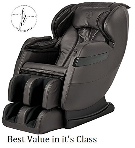 NEW 2018 BEST VALUED FOREVER REST FR-5KLS PREMIER L -TRACK SHIATSU, ZERO GRAVITY MASSAGE, SPACE SAVING CHAIR WITH FOOT ROLLING, BUILT IN HEAT, STRETCH & SWING MODE (5kls brown)