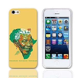 CL - Recordando el Respetable Caso Luchador Nelson Mandela duro del diseño para el iPhone 5/5S Libertad