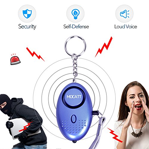 Personal Alarm Keychain Emergency Safe Sound Alarm Keychain with LED Flashlight and Siren Song, Anti-theft Keychains Personal Alarms for Elderly, Women,Kids,Explorer (Car Keychain Watch Gift)