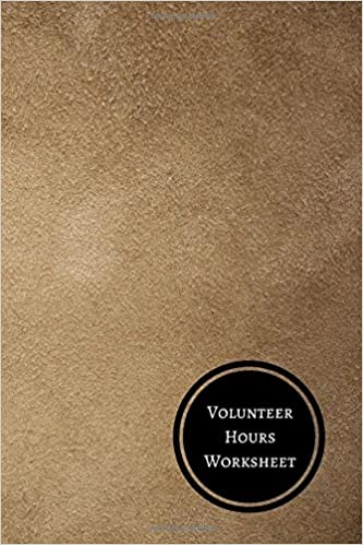 Volunteer Hours Worksheet Volunteer Log Journals For All