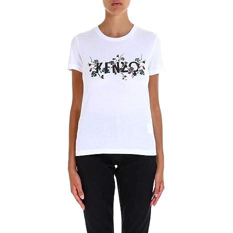 Kenzo Mujer F862ts76099301 Blanco Algodon T-Shirt: Amazon.es: Ropa y accesorios