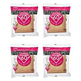 4 X Hario 02 100-Count Coffee Natural Paper Filters, 4-Pack Value Set (Total of 400 Sheets)