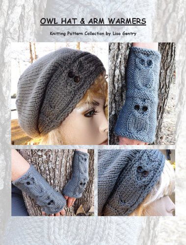 Owl Hat   Arm Warmers - Knitting Pattern  161 - Kindle edition by ... 31456dbcf689