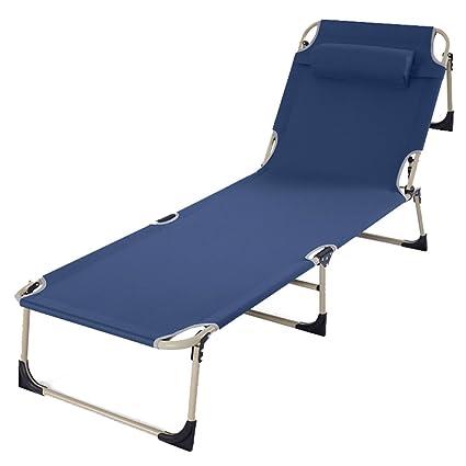 Amazon.com: Sillón reclinable plegable azul para cama ...