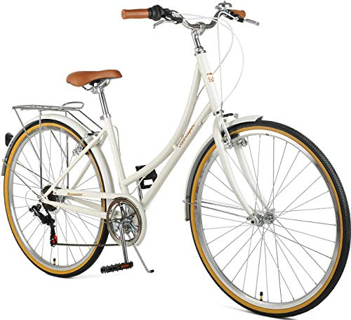 Retrospec Beaumont-7 Seven Speed Lady's Urban City Commuter Bike (Best Bicycles For City Riding)
