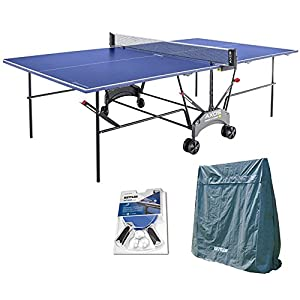 4. Kettler Outdoor Table Tennis Table - Axos 1 with Outdoor Accessory Bundle