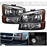 2003-2006 Chevy Silverado 1500 2500 3500 Headlight Replacement and Bumper Signal lamps Assembly