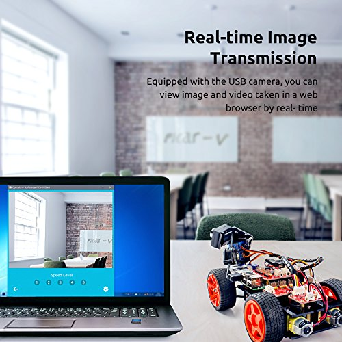 SunFounder Raspberry Pi Smart Video Car Kit V2.0 Block Based Graphical Visual Programming Language Remote Control by UI on Windows/Mac and Web Browser Electronic Toy with Detail Manual by SunFounder (Image #1)