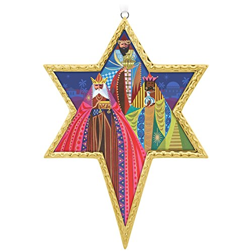 17 Los Tres Reyes Magos Star Porcelain Christmas Ornament (Three Wise Men Christmas Card)