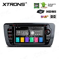 XTRONS HDMI Android 7.1 Quad Core 7 Inch HD Digital Touch Screen Car Stereo Radio DVD Player GPS for Seat Ibiza