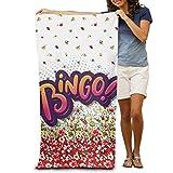DEFFWBb Super Absorbent Beach Towel Bingo Polyester Velvet Beach Towels 31'' X 51'' Inch