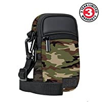 Compact Point and Shoot Camera Bag with Rain Cover , Accessory Pockets and Shoulder Sling by USA Gear - Works With Olympus TG-7 , Pen-F , Stylus SH-3 , Tough TG-870 and Other Compact Cameras from USA Gear