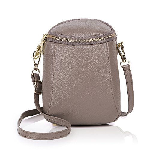 - Zg Girls Women 100% Real Leather Small Cute Crossbody Cell Phone Purse Wallet Bag
