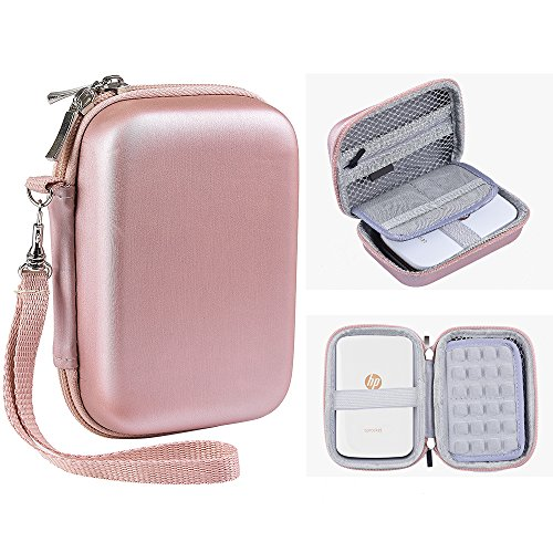 Katia Hard Case for HP Sprocket Portable Photo Printer. Hp Sprocket Case, Also fits Polaroid ZIP Mobile Printer/ZINK Zero Ink Printing Technology/Polaroid Snap Instant Digital Camera - Rose Gold