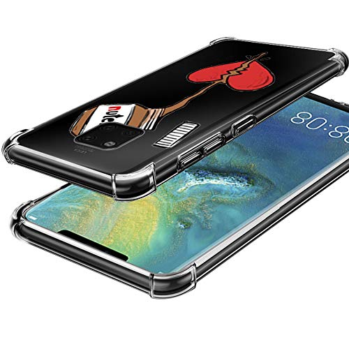 Aicisingn Designed for Huawei Mate 20 Pro Case Clear Slim Protective Shock Absorption Technology Reinforced Corner Bumper Soft TPU Anti-Scratch Cover Case - Honey Love