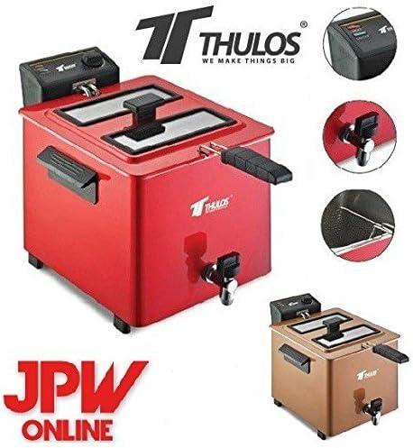 Freidora de gran capacidad THULOS TH-FR80. Capacidad de aceite: 8 ...