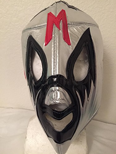 [Mil Mascaras El Santo Blue Demon silver mask LUCHA LIBRE MASK UNDERGROUND PENTAGON JR NACHO LIBRE PRINCE PUMA SIN] (Childrens Nacho Libre Costume)