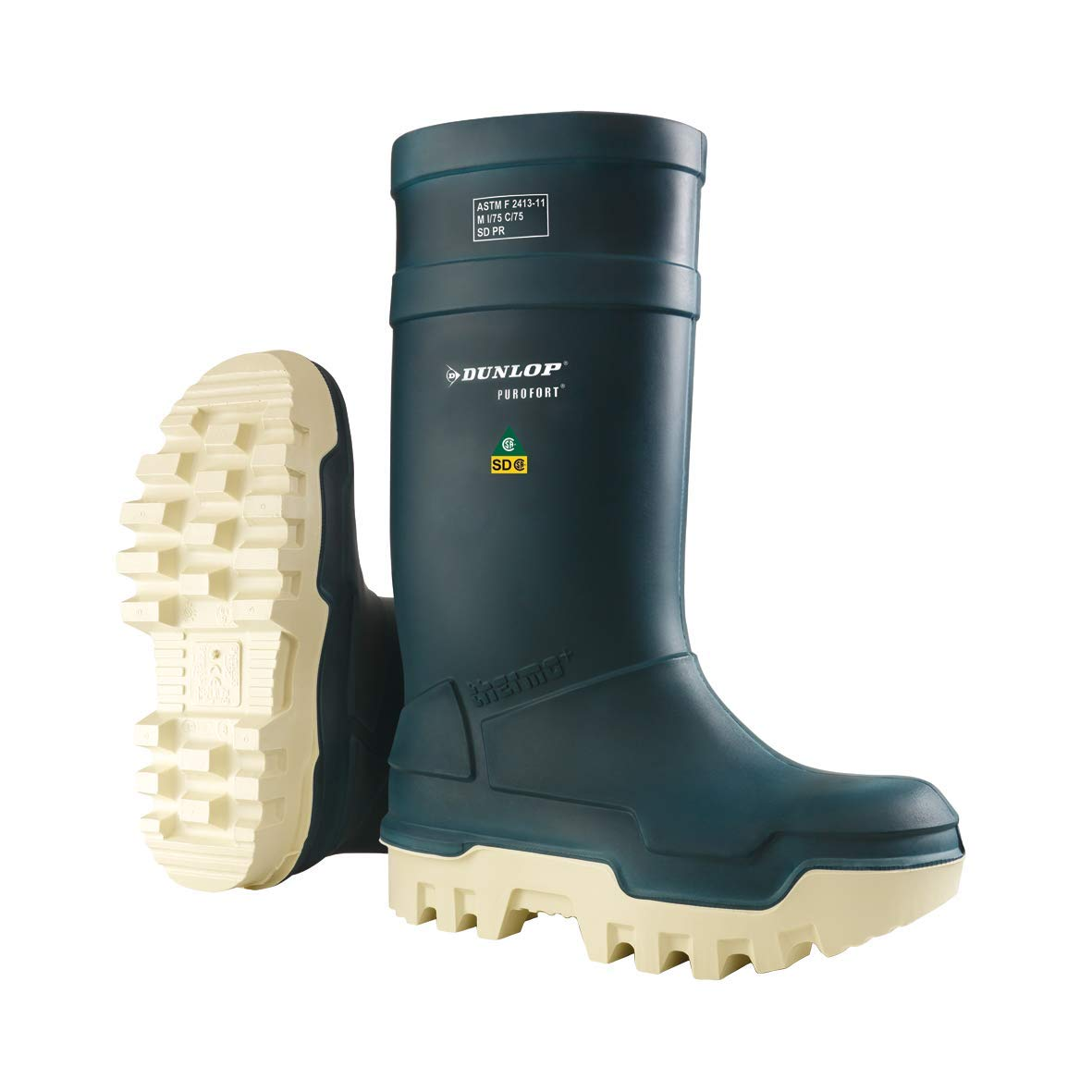 Purofort Thermo+ Full Safety Blue Shoes - 11 by Dunlop (Image #1)