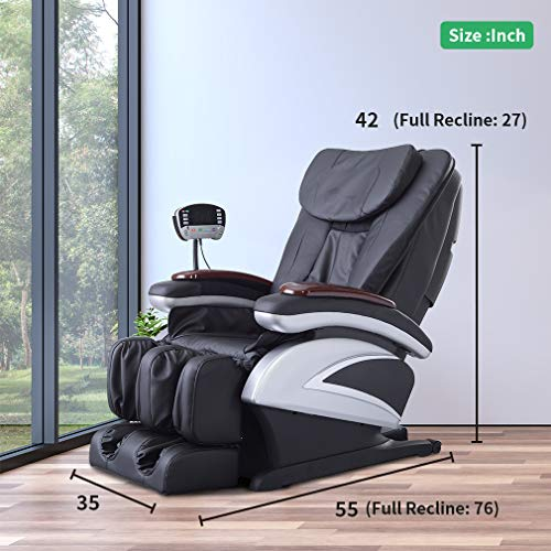 Full Body Electric Shiatsu Massage Chair Recliner With Built In Heat Therapy Air