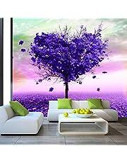 muurschilderingen behang 3D effect 3D behang moderne abstracte kunst paars boom foto muurschildering woonkamer slaapkamer interieur interieur natuur behang muur 3D wanddecoratie 280x200cm