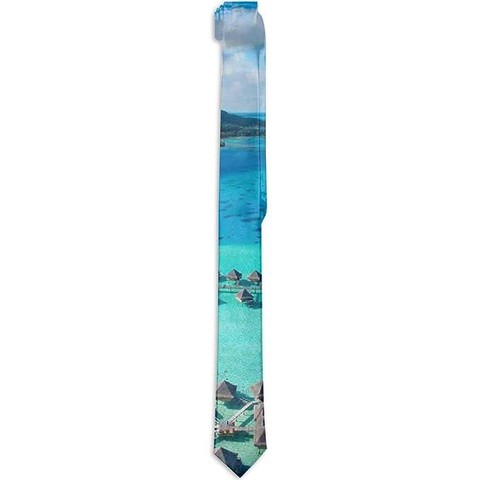 Corbata formal de seda, con diseño de Le Moana Resort Bora Bora ...