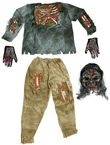 Fun World Complete Teen 3D Zombie Costume (Costume D'halloween Zombie)