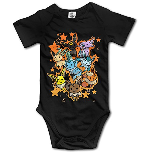 Eevee Evolution - POY-SAIN Cute Kids' Baby Romper Climb Cloth Size24 Months Black